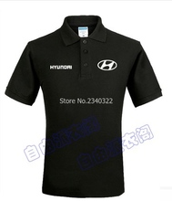 Summer Hyundai 4s shop standard tooling custom polo shirt cotton clothes for men and women(China)