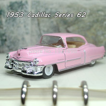 Brand New KT 1/43 Scale Vintage USA 1953 Cadillac Serise 62 Diecast Metal Pull Back Car Toy For Collection/Gift/Kids