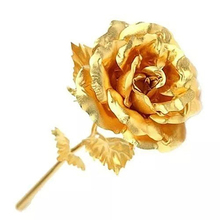 2016 New Birthday Wedding Gift Gold Plated Rose Lover's Flower Dipped Rose Eternal Love(China)