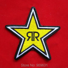 ROCKSTAR ENERGY EMBROIDERED IRON ON PATCH BADGE ARM SHIRT CAP HAT SHORTS(China)