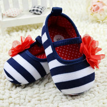 0-18M Sweet Newborn Baby Girls Flower Ruffled Shoes Toddler Soft Bottom Kids Crib First Walkers