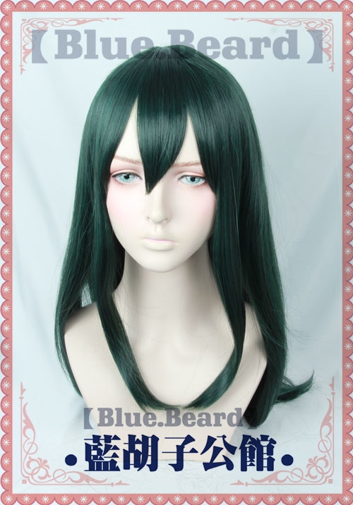Free Track Anime My Boku no Hero Academia Asui Tsuyu Long Full Lace Cosplay Wig Costume Heat Resistant  + Cap<br><br>Aliexpress