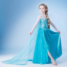 Baby Girl Dress Anna Elsa Christmas Halloween Snow Queen White Dresses for Girls Clothes Lace Kids Clothing(China)