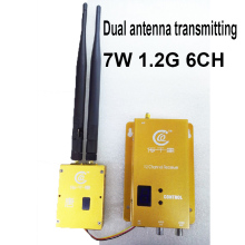 dual antenna L-range power 7W good ventilation 1.2G transceiver CCTV transmitter 1.2G image transmission TX for cctv accessories