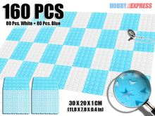 New 16 Packs of Bathroom Plastic Floor Mat Tiles Heart Pattern 30 x 20 cm  KK1130 Color Combination