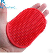 Pet Rubber Grooming Massage Hair Removal Bath Brush Glove Dog/Cat Hair Comb(China)