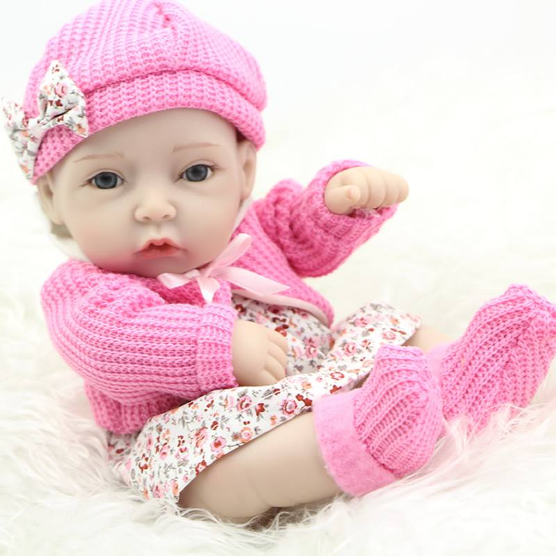 Lovely Reborn Newborn Baby Doll 11 Inch Girl Body Full Silicone Vinyl Lifelike Princess Dolls With Cute Clothes Kids Playmate <br><br>Aliexpress