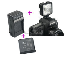 W36 36 pcs LED Video Light Lamp + Charger + Battery for Nikon Canon Pentax Olympus DSLR Camera DV Camcorder Hot Shoe