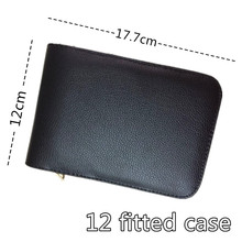 12 FOUNTAIN OR ROLLER BALL PEN CASE NEW ANTIQUE BLACK NEW AND IMPROVED PVC FREE SHIPPING dag(China)