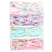 Buy 4pcs/lot Baby Girl Hair Bow Headband Flowers Print Floral Hairband Turban Knot Headwear Newborn Toddler Hair Accessories for $2.84 in AliExpress store