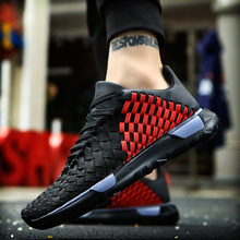 Men's 2017 Outdoor Speed Damping Cushion Running Shoes Breathable Textile Woven Lace up Sneakers Light Sports Shoes Size 39-44(China)