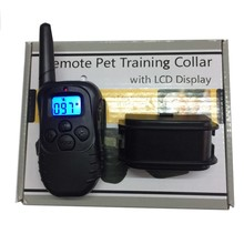 Pet Dog Training Collar Battery Styles 100 Level 300M Electronic Remote Control Anti Bark Dog Shock With LCD Display 998D