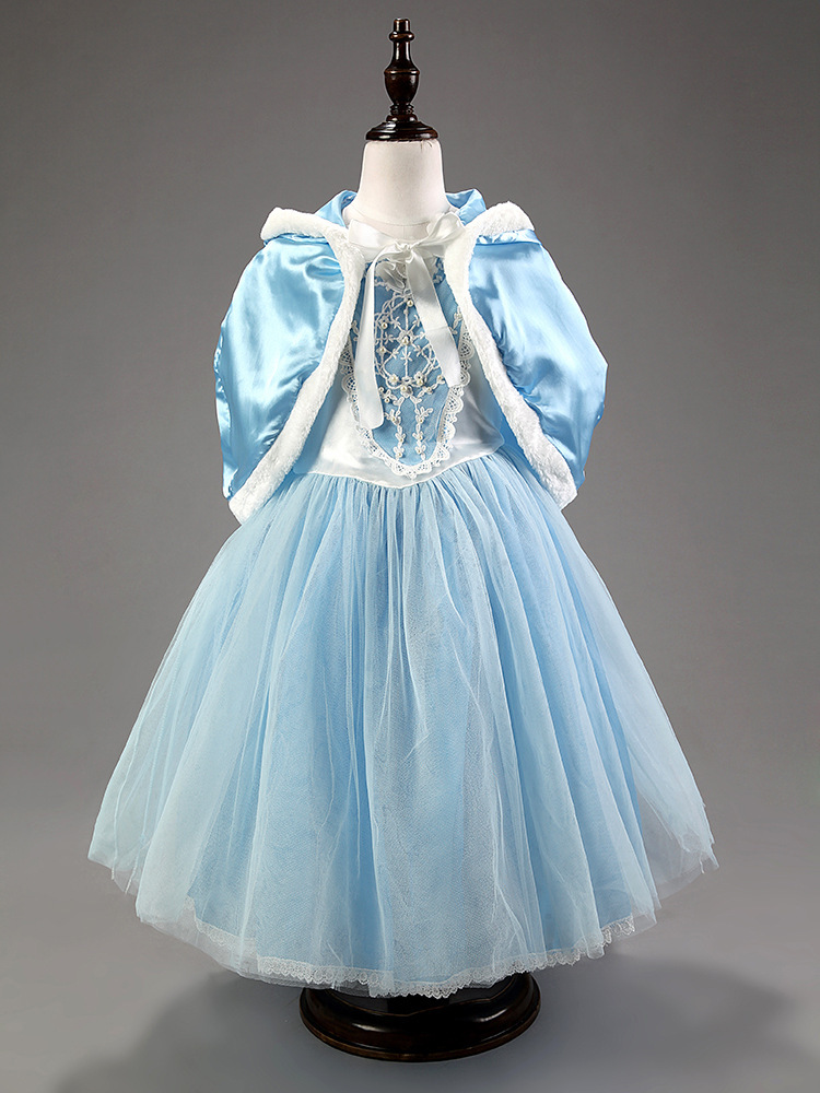 Princess Elsa Dress Cosplay winter Dress For Girl Dresses Hot Kids Lace Flower Brand Girls dress Children Clothing<br><br>Aliexpress