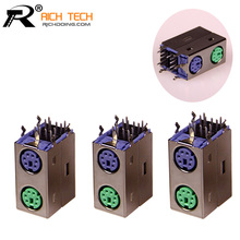 R Connector Purple/Green MINI DIN connector for computer mouse connected and keyboard connected Computer connector accessories