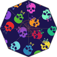 Original Personalized Cute Colorful Skulls Auto Foldable Umbrella