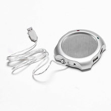 Portable USB Electric Cup Warmer Tea Coffee Beverage Cup Heating Pad Mat 60~70 Celsius Degree White