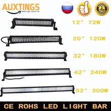 72w 120w 180w 240w 300w combo beam offroad led light bar 12v 24v led work light bar for 4x4 4WD SUV ATV Truck Tractor