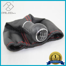 For Seat Arosa 1997 1998 1999 2000 2001 2002 2003 New 5 Speed Car Gear Shift Knob With Leather Boot And Red Line