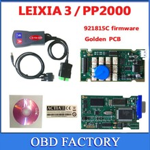 3pcs Cheapest lexia3 with golden PCB !! pps2000 Diagnostic Tool+LED cable pp2000 lexia 3 DIAGBOX serial 921815C firmware(China)