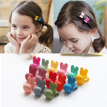 10 Pcs/Lot 2017 New Rabbit Baby Kids Hair Clips Hair Claws Lovely For Child Cute Hair Accessories Fashion For Student Headwear(China)