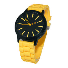 Red New Fashionable Candy Color Silicone Watch Hollow Out Pointer Lady's Quartz Wrist Watches Gift LL