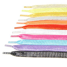 1 pair 43'' Flat shoelaces Gold Silver Shoe Laces Party Camping Shoelaces Glowing Canvas Strings 110cm