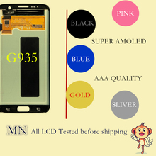 DHL SEND 100% Tested For Samsung Galaxy S7 edge G935 G935F LCD Digitizer Assembly White Black Gold Sliver Pink Coral Blue