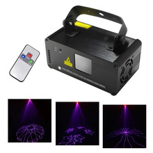AUCD Mini Portable IR Remote 8 CH DMX Purple 150mW Laser Scanner Stage Lighting PRO DJ Party LED Show Projector Lights DM-V150
