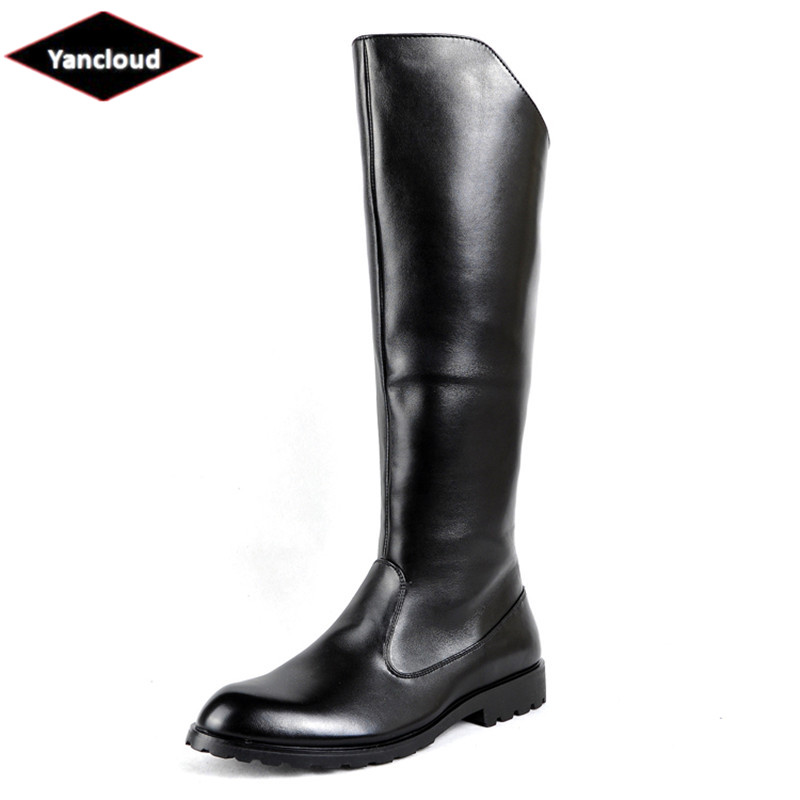 NEW LADIES Flat Calf Length Military Riding County Boots Black Grey Sizes 3-8