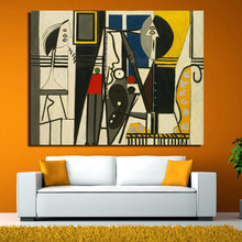 Abstract painting Picassos canvas modern oil painting print on canvas 1 panel wall art home decor free shipping no frame(China)