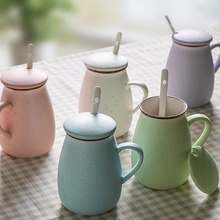 Environmental Milk Cup Ceramic Coffee Mug with Handgrip Fashion Tea Cups Big Capacity Water Mugs Home Office Drinkware 5 Colors