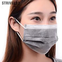 50pcs Non Woven Disposable Face Mask 4 layer Activated Carbon Medical dental Earloop Anti-Dust Surgical Masks(China)