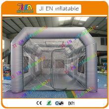 Free shipping door to door inflatable spray booth at sale / portable inflatable car painting booth come with 2 pieces air blower