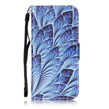 Bag For iPhone 6s 6 4.7-inch Phone Cases Pattern Printing Wallet PU Leather Cell Phone Shell For iPhone 6 s with Strap - Leaves