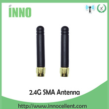 2pcs/lot 2.4GHz antenna SMA Male connector 2dbi wifi antenna rubber Zigbee antenna short 5cm(China)
