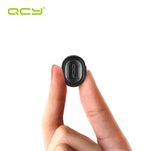 QCY Q26 Mono Bluetooth Earphone with Mic Mini Wireless Headset Bluetooth 4.1 Hidden Invisible Music Earbud for phone's earphone(China)