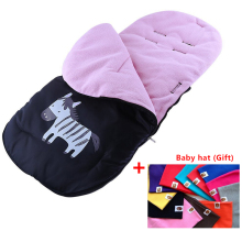 Baby Sleeping Bags Pram Baby Stroller Foot warm Cover Strollers Accessories Pushing cart foot muff for children+baby hat (Gif)(China)
