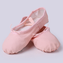 Children and Adult Canvas Soft Ballet Dance Shoe Split Leather Outsole GymYoga Dancesport Shoes Girls Toe Dance Flat Slippers(China)