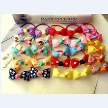 26pcs/lot girl kids hair ties small hair bow elastic rubber band hair gum cute bowknot scrunchy hair accessories hairband Q26(China)