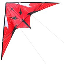 Outdoor Fun Sports  NEW  48 Inch  Dual Line Stunt  Kites  /  RED  Kite  With Handle And Line Good Flying