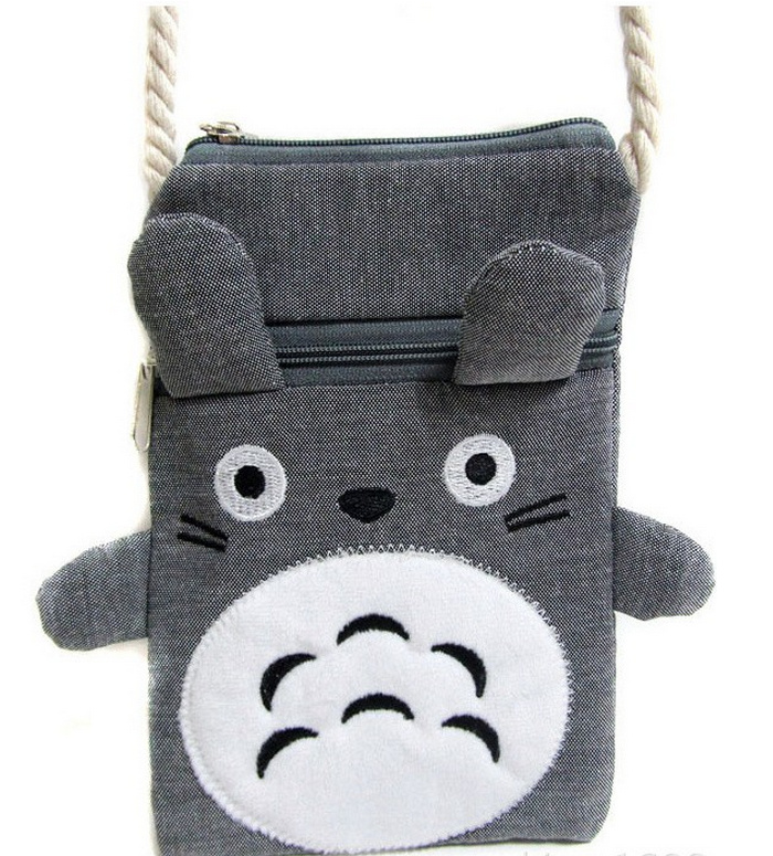 Kawaii NEW 19CM TOTORO Plush Backpack , Baby Kid's Neck String Canvas Satchel , Messenger BAG Plush Backpack(China)