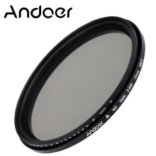 Andoer 72mm ND Filter Fader Neutral Density Adjustable ND2 to ND400 Variable Filter for Canon Nikon DSLR Cameras(China)