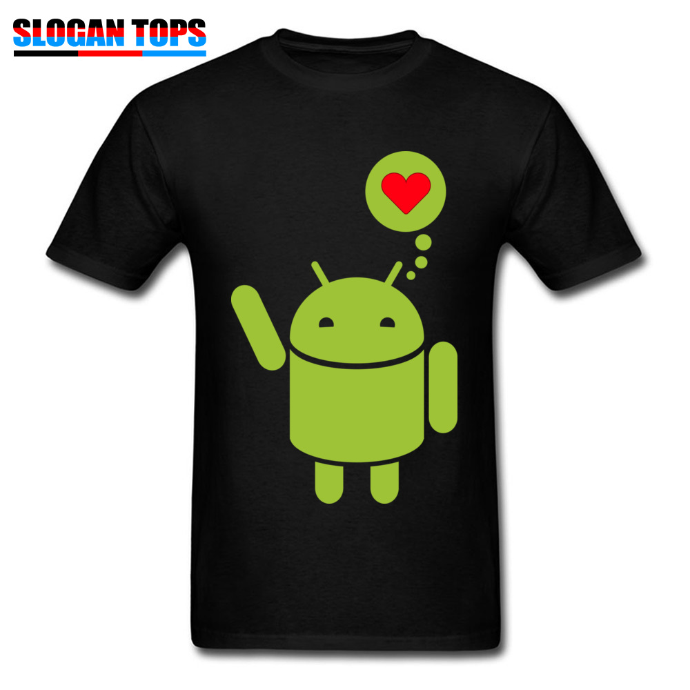 Droid in Love Thanksgiving Day 100% Cotton Round Neck Tops & Tees Short Sleeve Casual T-Shirt Coupons Custom Tshirts Droid in Love black