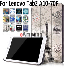 For Lenovo Tab2 A10-70F Case Tablet Accessories Case For Lenovo Tab3 10 Plus Painted Smart Cover For Lenovo Tab2 A10-30(China)