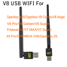 Wireless USB WiFi Satellite Receiver Mini USB WiFi adapter For Freesat V7 HD COMBO MAX V8 Super v8 Golden Openbox V8 Combo(China)
