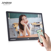 "Andoer 15"" LED Digital Photo Frame Image 1080P MP4 Video MP3 Audio TXT eBook Clock Calendar 1280*800 HD w/Remote Control 2 Color(China)"