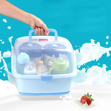 Multifunctional Plastic Baby Milk Bottle Storage Box Container Clamshell Organizer Cups Bowls Storage Rack Portable #242495