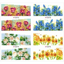 4 PACKS / LOT FULL COVER ABTRACT FLOWER VINE GRASS TATTOOS STICKER WATER DECAL NAIL ART C272-275(China)