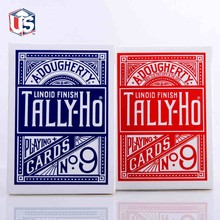 1pcs Original Tally-Ho No.9 Poker Fan Back Or Round Back Playing Cards Magic Props Magic Toys Magic Tricks Cardistry Deck 81300