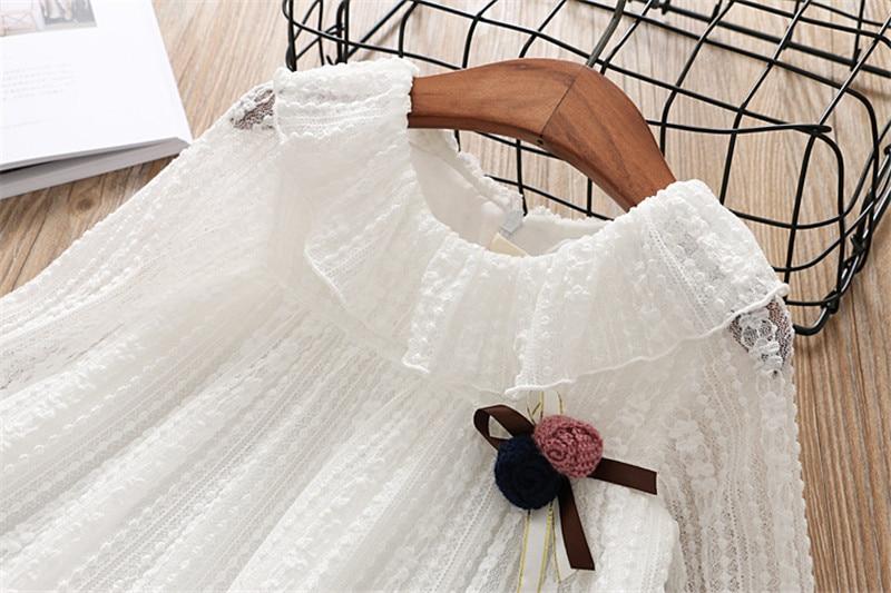 2-7 année filles robe 2018 printemps automne nouvelle mode fleur dentelle princesse robe enfant enfants robe filles vêtements filles vêtements 17